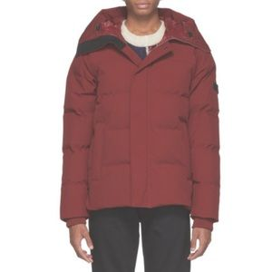 Kenzo Puffer Coat Red Down Jacket Quilted Logo Men